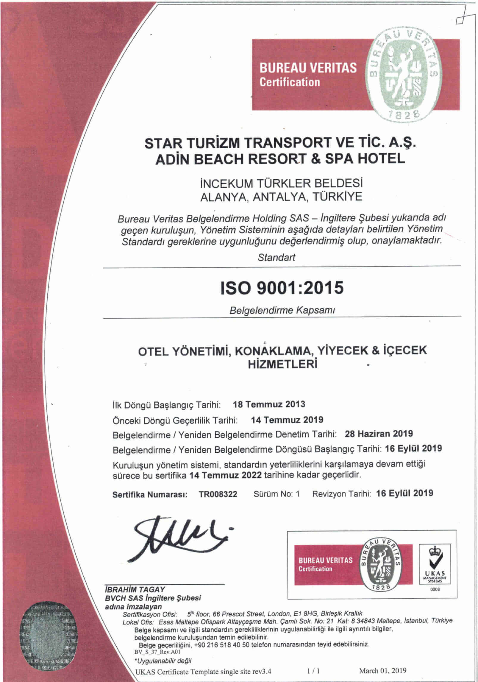 ISO 9001 belge