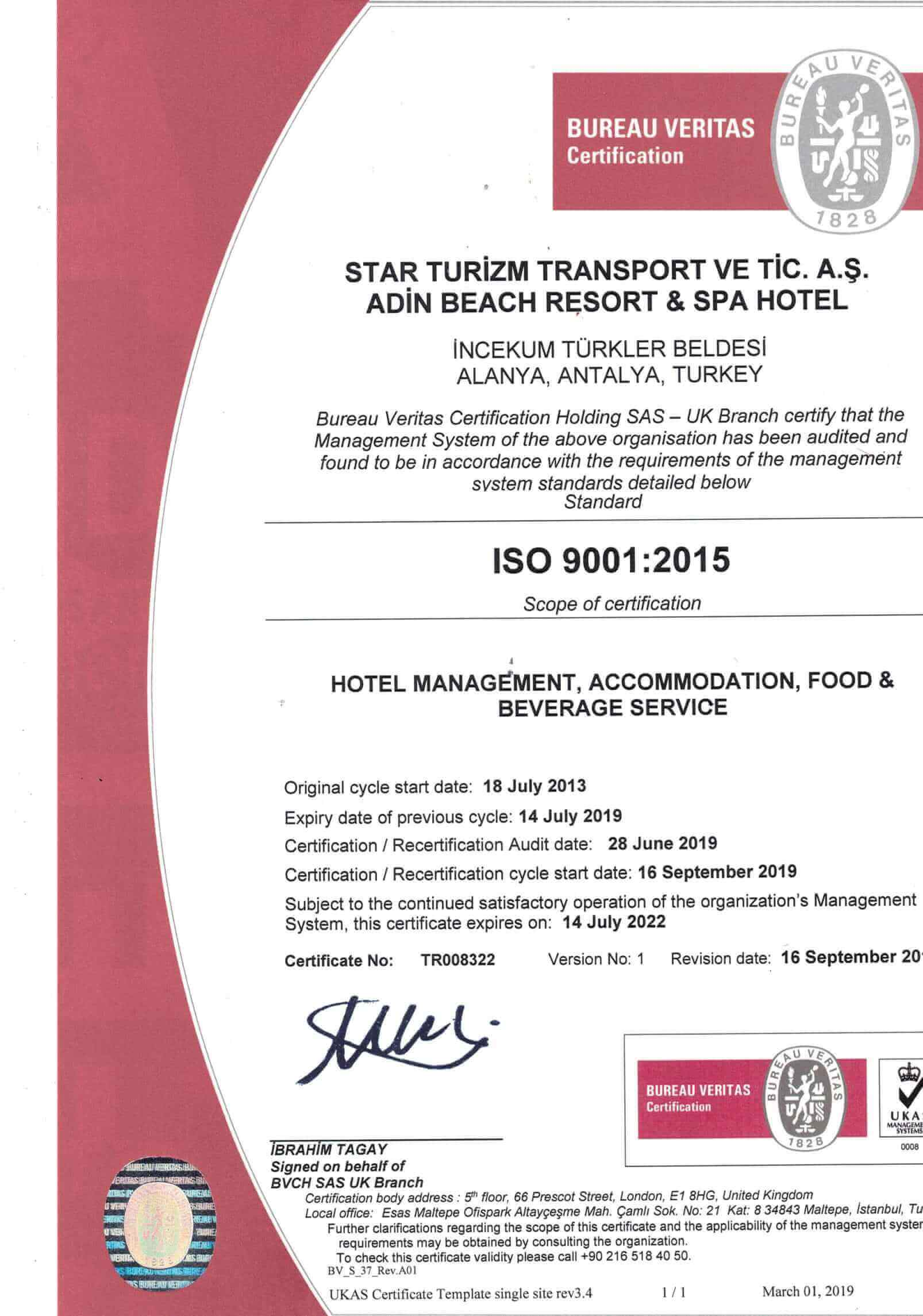 İSO 9001 belge 2. sayfa