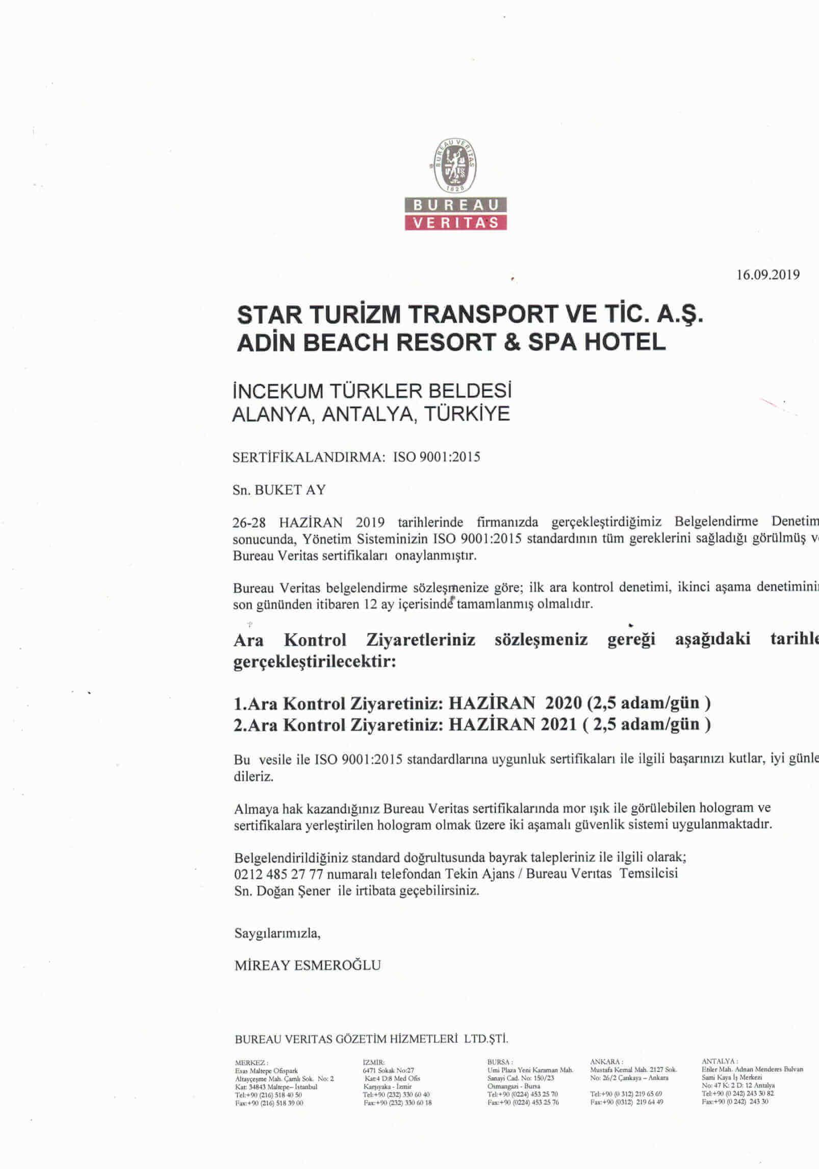 SO 9001 belge 3. sayfa
